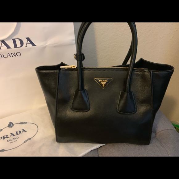 ff36898547865f Prada Bags   Nwt Glac Calf Shopping Tote Handbag Black   Poshmark